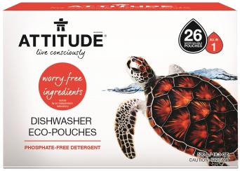 Attitude Средство для посудомоечной машины всё в одном Eco-pouches таблетки 26 шт