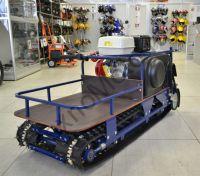 Барс Р 550 HV 9 S буксировщик с двигателем Honda мощностью 9 л. с., склизовая подвеска, задний привод, вариатор Safari, разрезанная гусеница для глубокого снега