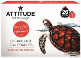 """Attitude Средство для посудомоечной машины """"Всё в одном"""" Eco-pouches (таблетки) 26 шт"""