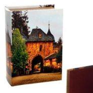 Шкатулка Книга с код.замком (искусственная кожа), L 22 W 16 H 7 см дерево, полимерные материалы (арт. 393594)
