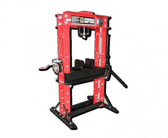 Пресс гаражный напольный гидравлический/пневматический усилие 50т. Шток: 175мм. Ход рабочего стола 890мм.