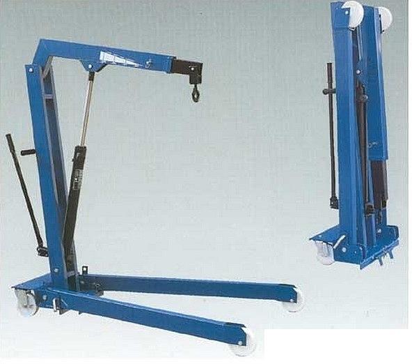 Кран складной гаражный (типа 'гусь' ) г/п 1000 кг., высота подъёма 2400 мм, однотактный гидроцилиндр
