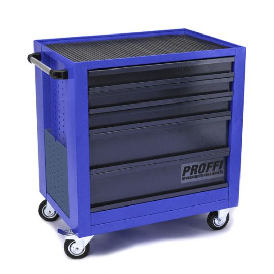 Тележка Верстакофф PROFFI 795.5  Размеры (ШхВхГ)  700 х 785 х 490 мм  5 выдвижных ящиков: Средний ящик  – 2 шт. Малый ящик  – 3 шт.
