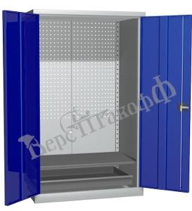 Металлический инструментальный шкаф PROFFI (без перегородки), 1 полка+1 ящик.