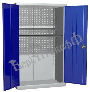Металлический инструментальный шкаф PROFFI (без перегородки), 2 полки.