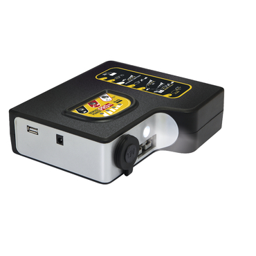 NOMAD POWER PRO 90 Переносной компактный бустер на основе литиевой батареи. Может использоваться для пуска легковых автомобилей и внедорожников, мотоциклов и лодок, а также как дополнительное зарядное устройство для смартфонов, ноутбуков и т.п. Снабжен ла
