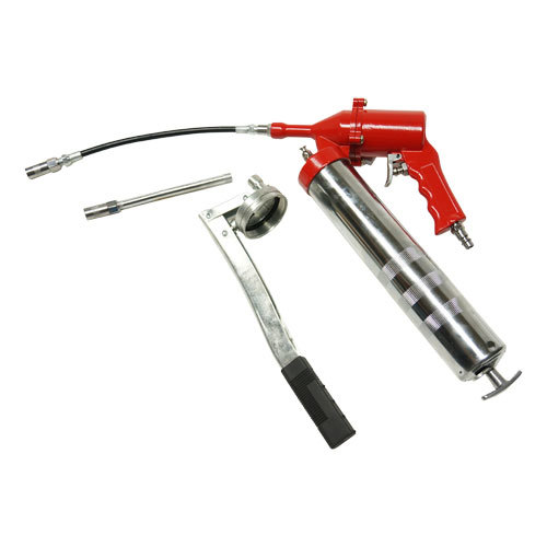 Солидолонагнетатель пневматический 500 мл/картридж 470мл (max 400 бар) с доп. комплектом