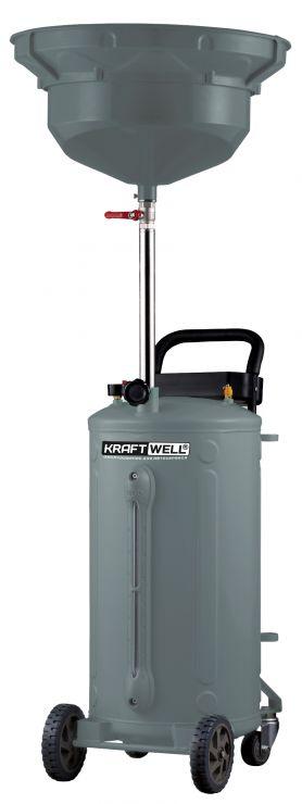 KraftWell KRW1803.80 Установка для слива масла/антифриза с круглой подъемной ванной, мобильная