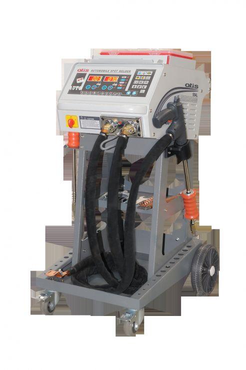 Аппарат для  выпрямления стальных поверхностей с набором аксессуаров.  Автоматический выбор параметров сварки. LCD дисплей. Микропроцессорный контроль.  Автоматический переход в режим охлаждения. Максимальный ток 5000А.  220 или 380В.