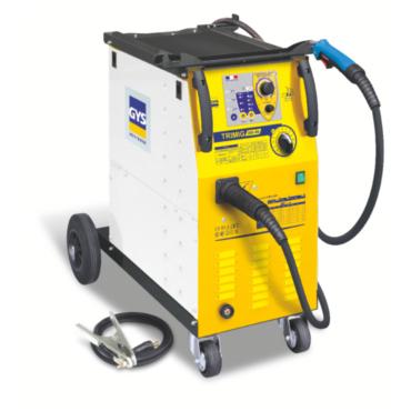 TRIMIG 200-4S Сварочный синергичный полуавтомат для работы со стальной и нержавеющей проволокой  0,6-0,8-1,0 мм., алюминиевой проволокой 0,6-0,8мм., флюсованной проволокой 0,9-1,2мм. Четырехроликовый проволокоподающий механизм. Поставляется в комплекте с