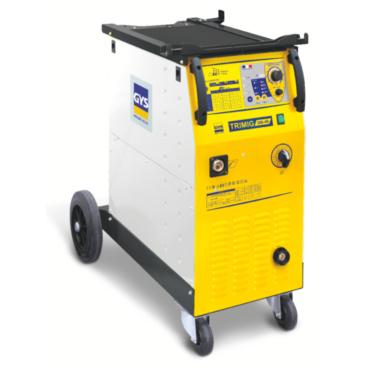 TRIMIG 300-4S Сварочный синергичный полуавтомат для работы со стальной и нержавеющей проволокой  0,8-1,2 мм, алюминиевой проволокой 0,6-0,8мм., флюсованной проволокой 0,9-1,2мм. Четырехроликовый проволокоподающий механизм. Евроразъём, подходят бобины с пр
