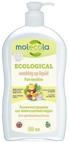 Molecola Средство для мытья детской посуды Pure Sensitive для чувствительной кожи экологичное 500 мл