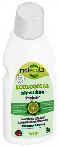 Molecola Средство для чистки унитазов и сантехники Зелёный можжевельник Green Juniper экологичное 750 мл