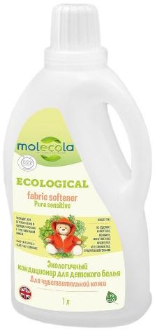 Molecola Кондиционер для детского белья Pure Sensitive для чувствительной кожи экологичный 1 л
