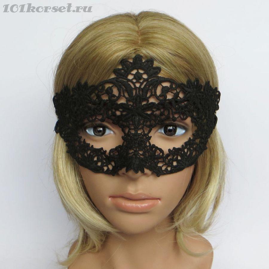 Ажурная черная маска