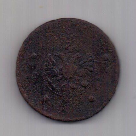 5 копеек 1727 г. КД крестовик