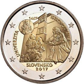 550 лет основания Истрополитанского Университета в Братиславе 2 евро Словакия 2017