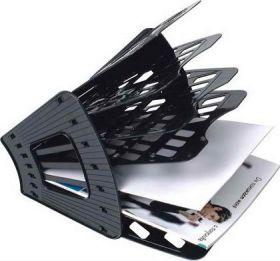 Лоток-веер 7 секц СТАММ черный/10 ЛТ41