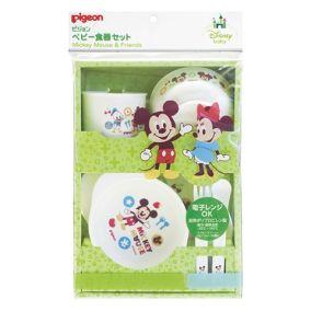 """Детская посуда для кормления, 7 предметов PIGEON """"Mickey & Friends"""" обучающая"""