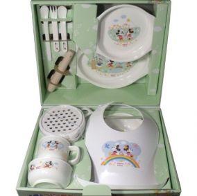 """Детская посуда для кормления и приготовления пищи для детей, 13 предметов PIGEON """"Mickey & Friends"""" обучающая"""