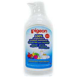 PIGEON Средство для мытья детской посуды и овощей и фруктов, дозатор бутылка 800мл.