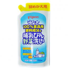 PIGEON Средство для мытья детской посуды, овощей и фруктов, сменный блок 700мл.