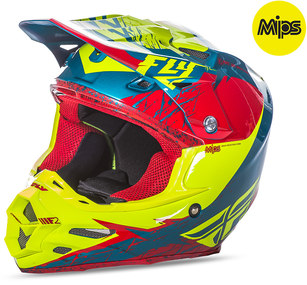 FLY - 2017 F2 Carbon MIPS Retrospec Hi-Vis шлем, красно-желтый