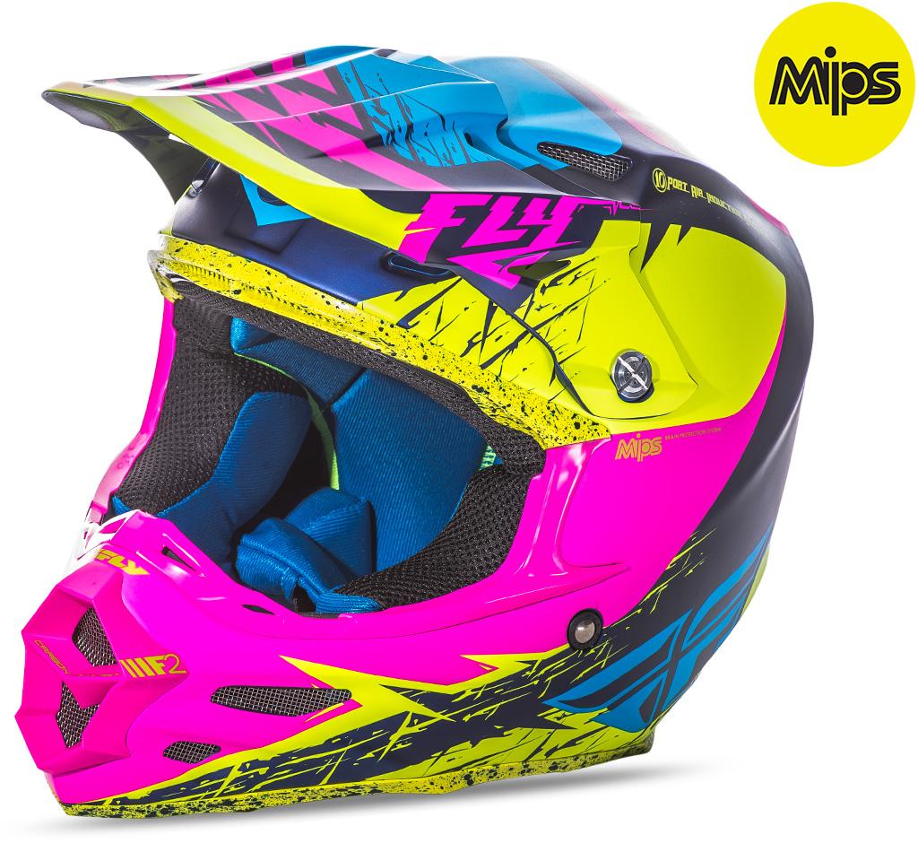 FLY - 2017 F2 Carbon MIPS Retrospec Matte шлем, розовый-HI-VS