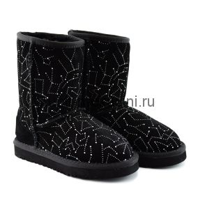 Kid's Classic Short Constellation Black - Детские Угги Короткие Constellation Черные