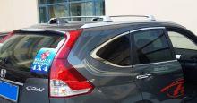 Багажник на штатные рейлинги, серебристый к-кт