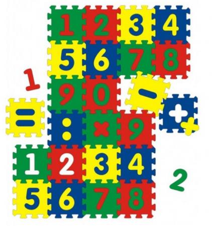 "Мягкий развивающий коврик ""Цифры"" , 24 элемента"