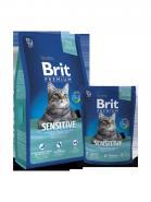 BRIT Premium Sensitive Ягненок и рис для кошек с чувствительным пищеварением (1,5 кг)