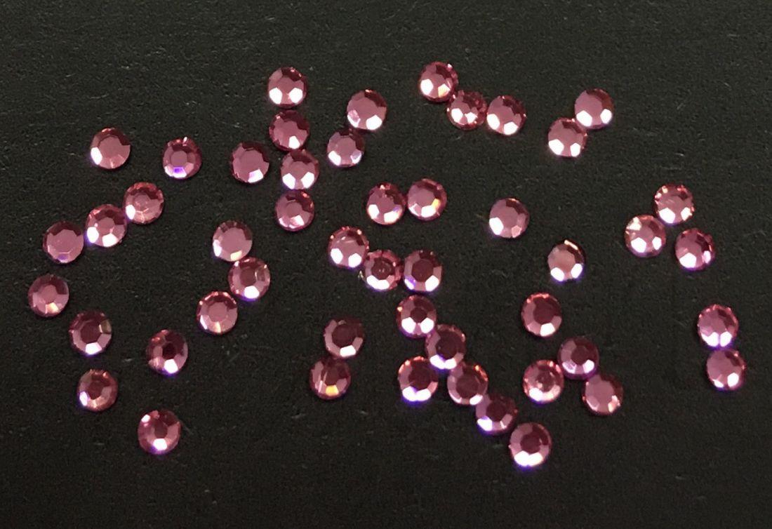 Стразы SS3 стекло плоские (Rose) уп/50шт