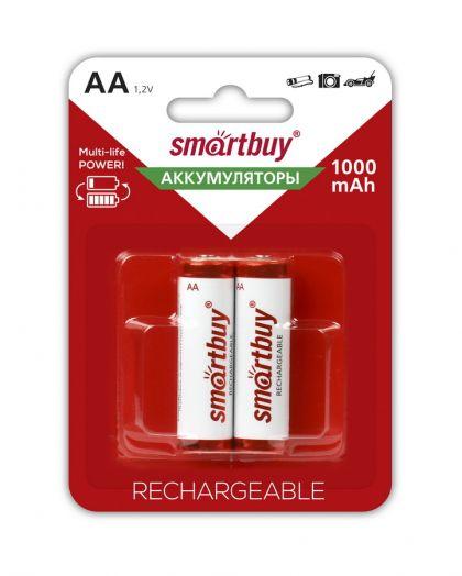 Аккумулятор NiMh Smartbuy AA/2BL 1000 mAh