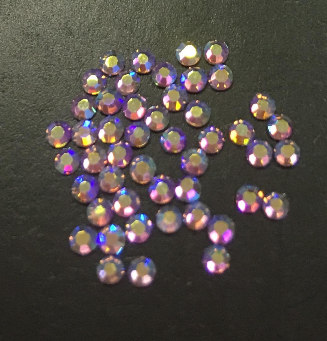 Стразы SS4 стекло плоские (Light Amethyst AB 015) уп/50шт
