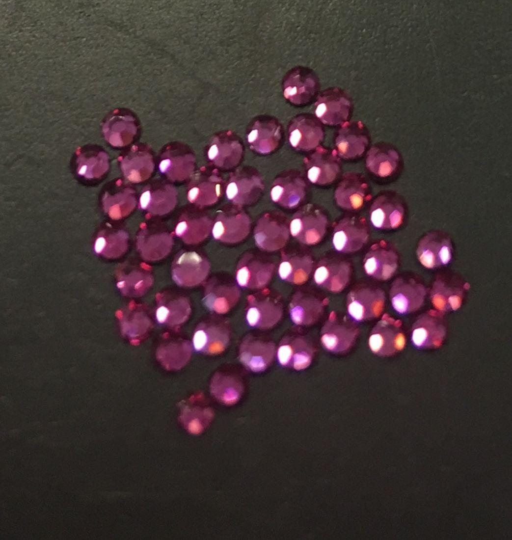 Стразы SS4/1,72 мм стекло плоск (Fuchsia) уп/50шт