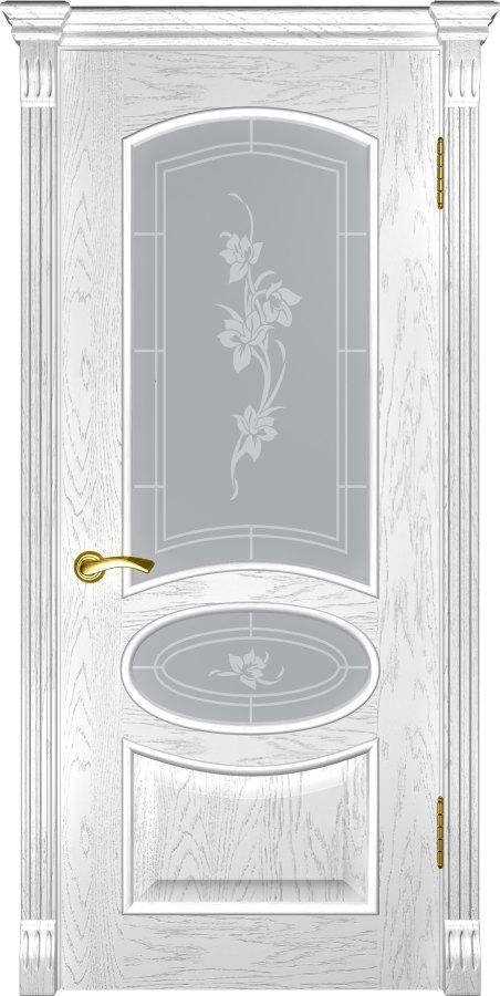 Грация дуб белая эмаль со стеклом