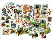 ПТИЦЫ, 73 шт. без повторов, марки стран мира