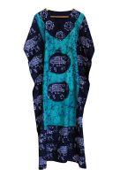 Длинное безразмерное индийское платье на кулиске, купить в шоуруме индийской одежды