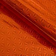 Плёнка голография, оранжевая, 200 гр, 70 см*7,5 м