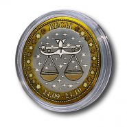 ВЕСЫ, монета 10 рублей, с гравировкой, знаки ЗОДИАКА