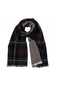 теплый широкий двусторонний  шарф (двойное полотно) тартан клана Маккензи Mackenzie / Herringbone ,плотность 7