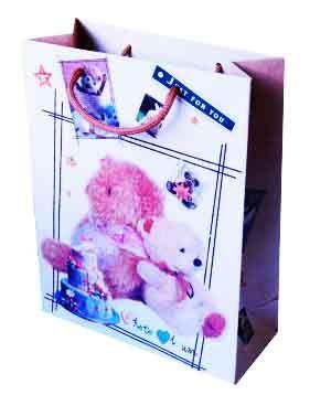 """Пакет бумажный """"Мишки c тортом"""""""