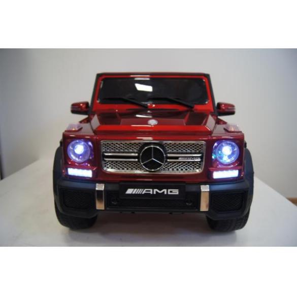 Детский электромобиль River Toys Mercedes-Benz-G-65-AM вишневый глянец