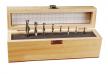 Набор спиральных фрез Leigh, твёрдосплавных, в деревянном ящике 8 шт М00010327