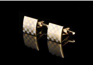 запонки золотая шахматная доска, артикул 46
