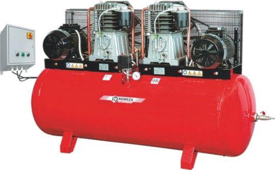 компрессор поршневой 2200 л/мин, 10 бар, 2х7.5 кВт. 380 В, ресивер 500 л., с пультом