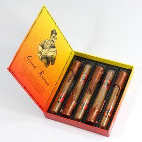 Подарочный набор сигар Gurkha Grand Reserve Robusto Natural Tubos 5 шт.