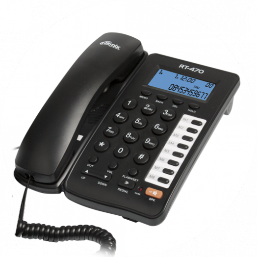 Телефон RITMIX RT-470 black