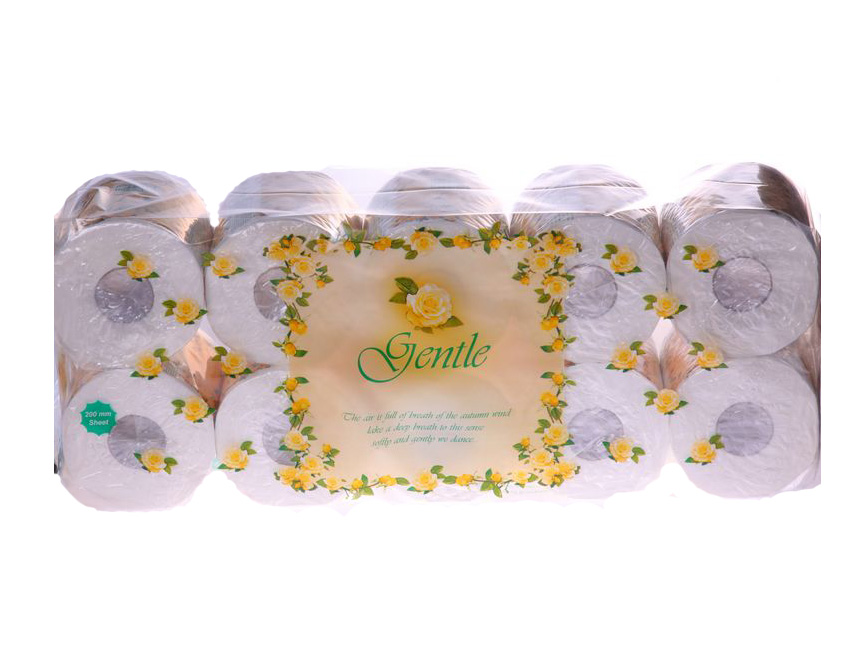 200760 Gentle Трёхслойная туалетная бумага с ароматом Европы 1 х 10 шт.